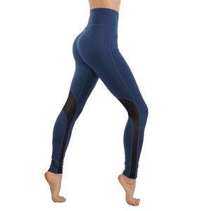 Workout Leggings With Mesh cutouts mid waist